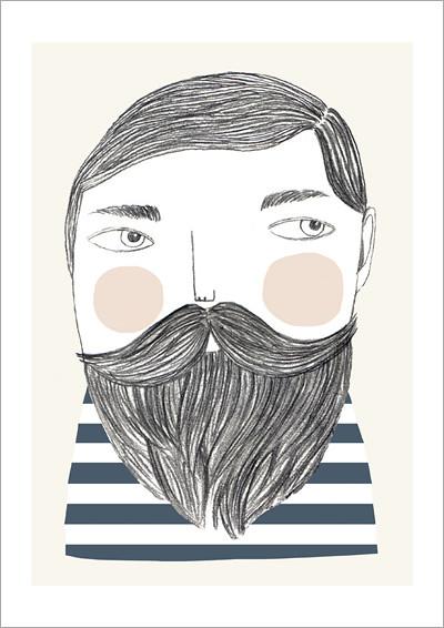 bearded_A4 print