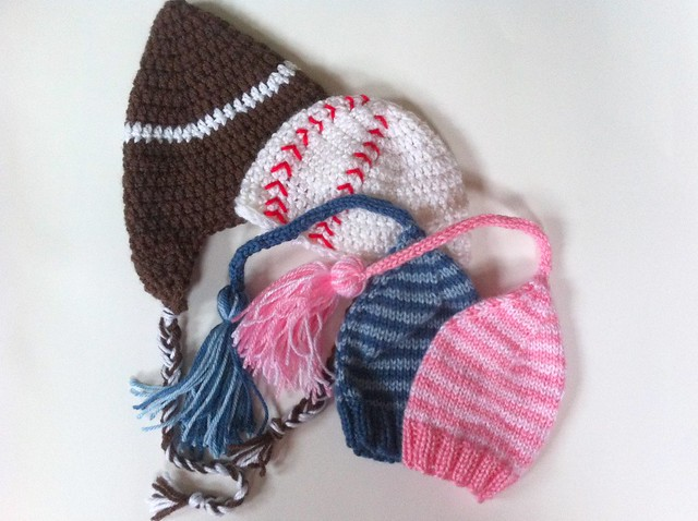 WIPs - Baby Hats - Knit & Crochet