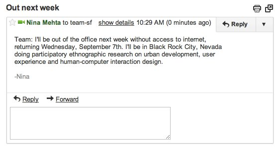 Email to my colleagues about Burning Man