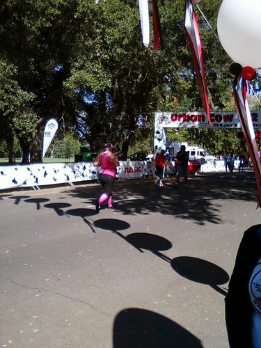 Finishing the Urban Cow Half Marathon
