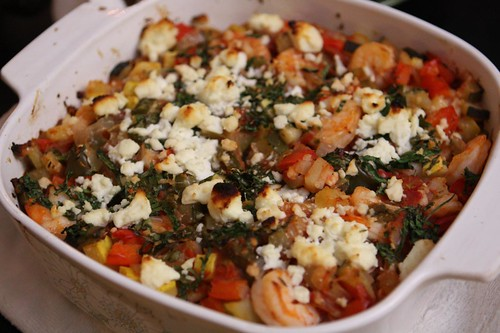 Shrimp Casserole with Feta
