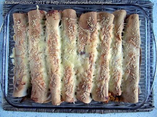 Enchiladas mit Hühnchen und Bohnen 002