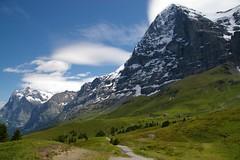 Friendly giant? (Johan_Leiden) Tags: mountain mountains alps schweiz switzerland suisse hiking walk hike grindelwald northface eiger berneroberland kleinescheidegg