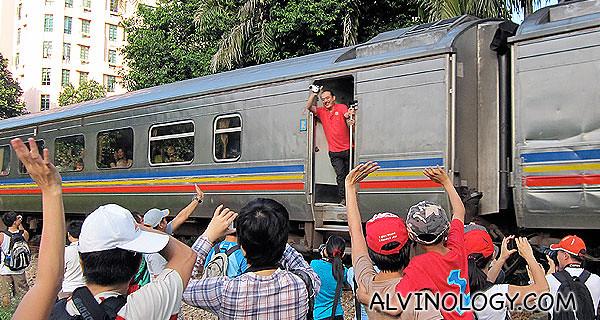 KTM train rushing pass