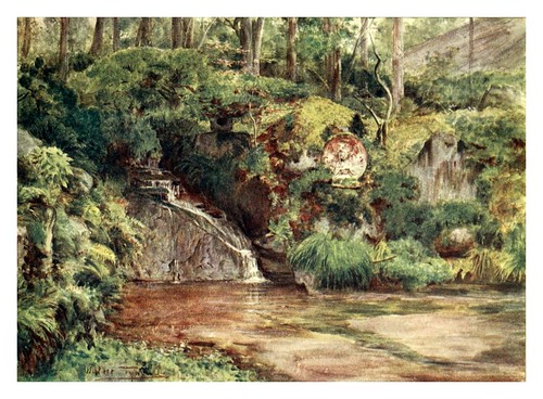 006-Un jardin de rocas en Nikko-Japanese gardens 1912-Walter Tyndale