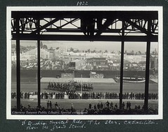 B-Squadron Musical Ride. The Star, Canadian National Exhibition, From the Grandstand (Toronto Public Library Special Collections) Tags: horse toronto ontario canada public army military picture canadian parade cne historical 1922 grandstand canadiannationalexhibition library tpl torontopubliclibrary toronto torontobuildings special canadian bsquadron collection collections torontopubliclibrary specialcollections ontariohistory canadianhistoricalpicturecollection
