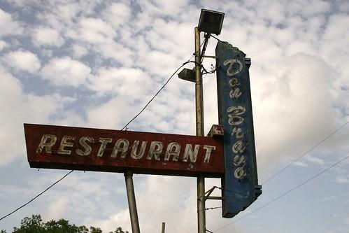 don bravo restaurant neon sign