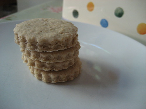 Little stack of oatcakes