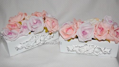 Vasos  Vintage Rosas by LEME´S ARTE / By Helenita Leme
