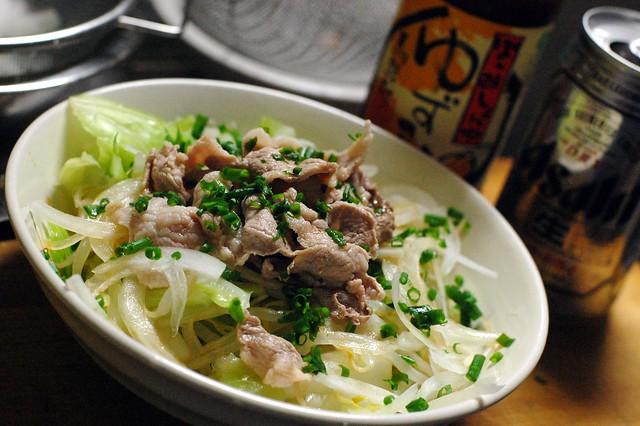 豚の野菜の冷しゃぶサラダ!しゃきしゃき! #gohan