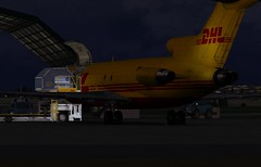 VH-DHE almost done loading at NZAA (DeeKnow) Tags: cs boeing freight screenies dhl fsx 727200f 727f vhdhe captainsim