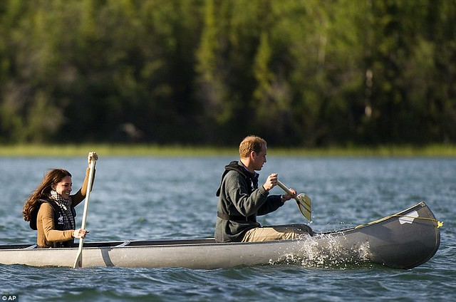 Two Royals in a boat Canoe-dling Kate and William wow Canada's Northwest Territories with their paddling partnership in a kayak  1
