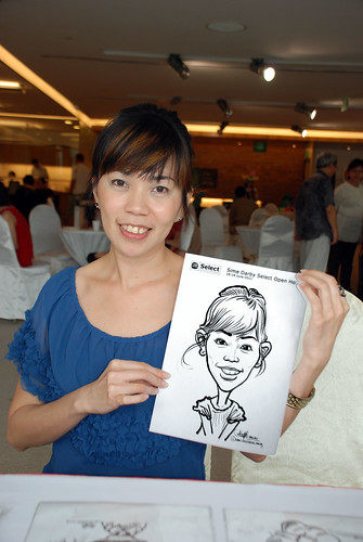 Caricature live sketching for Sime Darby Select Open House Day 1 - 13
