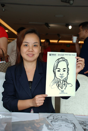 Caricature live sketching for Sime Darby Select Open House Day 2 - 24