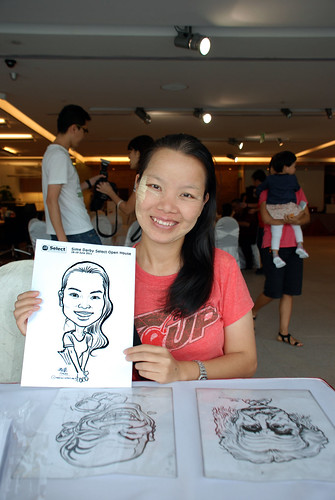 Caricature live sketching for Sime Darby Select Open House Day 2 - 1
