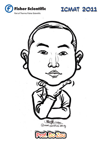 Caricature for Fisher Scientific - Prof. Bo Zou