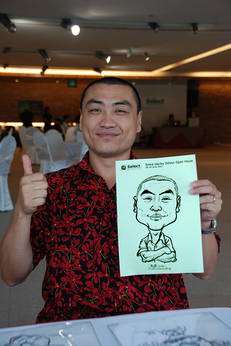 Caricature live sketching for Sime Darby Select Open House Day 2 - 6
