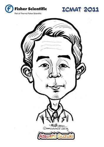 Caricature for Fisher Scientific - Atsushi Suzuki