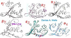 Love Tattoo Designs by Denise A. Wells (Denise A. Wells) Tags: flowers blackandwhite flower love tattoo pencil sketch vines artwork colorful artist heart drawing girly lettering tattoodesign tattooflash workofart butterflytattoo lovetattoo calligraphytattoo customlettering tattoophotos beautifultattoo treblecleftattoo scripttattoo nametattoos tattooimages tattoolettering tattooimage tattoophoto tattoopicture musicnotestattoo tattoodesignsforwomen prettytattoo deniseawells creativetattoos lacetattoo customtattoodesign uniquetattoodesigns prettytattoodesigns girlytattoodesigns nametattooideas prettytattoodesign girlytattoodesign lovetattoodesign detailedtattooscript eleganttattoodesigns femininetattoodesigns tattoolinework cooltattoodesigns calligraphylettering uniquecalligraphydesign cursivetattoolettering fancycursivetattoolettering tattooalphabet femininelovetattoo flowerfonttattoo lovetattoodesignsbydeniseawells professionalletteringtattoos typographictattoodesigns