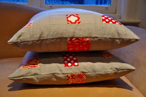 Cushions on side