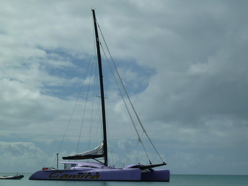 Camira moored off Whitehaven Beach