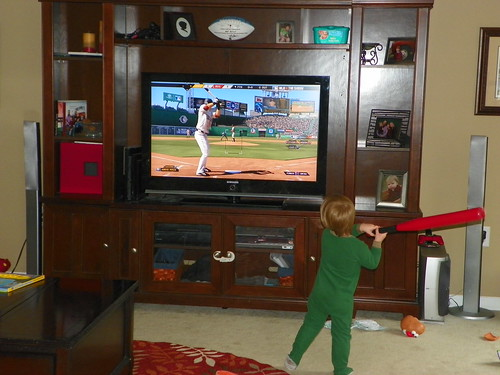 110528 Coleman swinging bat with video game