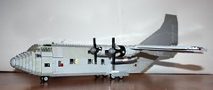 HC4 Albatross (Babalas Shipyards) Tags: scale plane force lego aircraft military air aeroplane cargo propellor minifigure