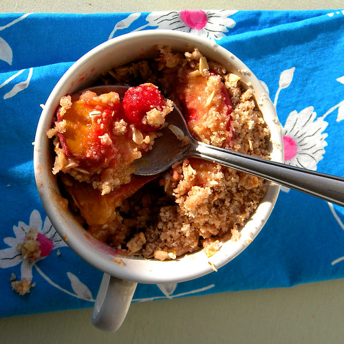 Peach and Sour Cherry Cobbler