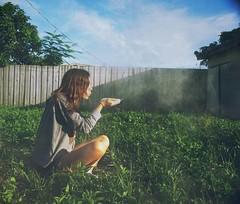 make a wish (Stephanie Lorenzo) Tags: selfportrait girl grass clouds cloudy bluesky disney cinderella wish flour wishing makeawish disneychannel adreamisawish stephanielorenzo