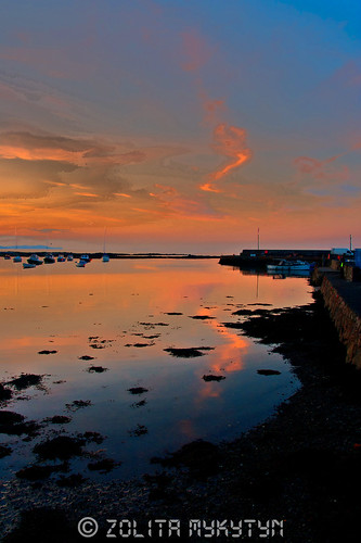 Groomsport at dusk by xxx zos xxx