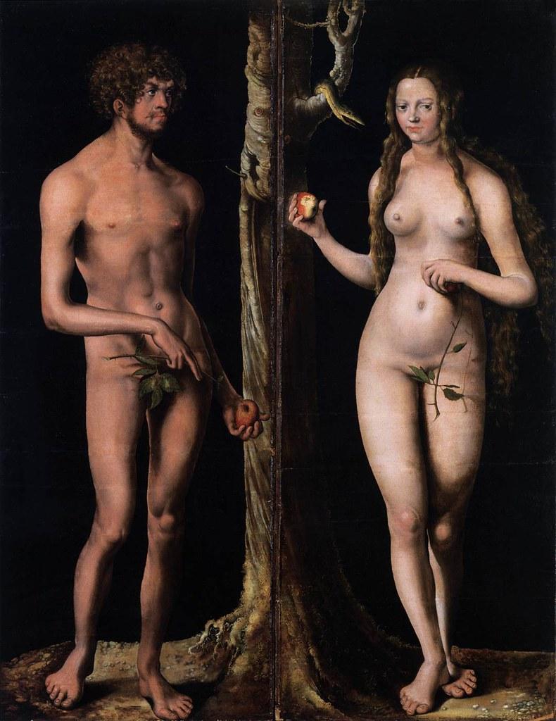 Lucas Cranach L'Ancien, Adam et Eve (1510)