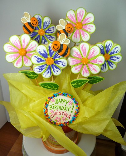 Summer Flower Cookie Bouquet by Cookievonster
