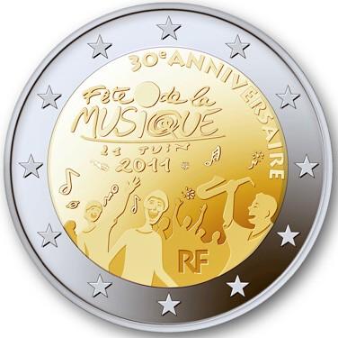 2 Euro Francúzsko 2011, 30. výročie Sviatku hudby