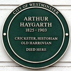 Photo of Arthur Haygarth green plaque