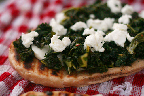 kale goat cheese pizza 3
