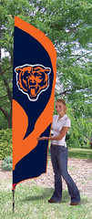 Chicago Bears Tall Feather Flag