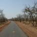 Paisagem seca e desertica que cruzamos