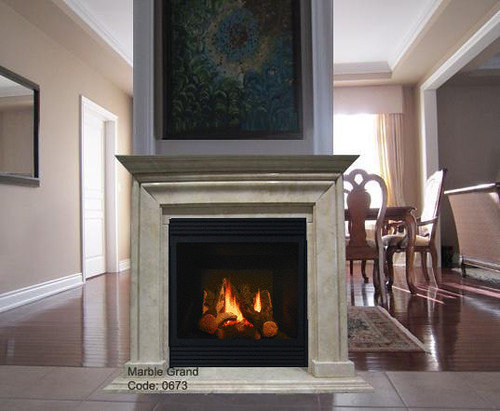 Marble Fireplace Mantel-MarbleGrand Code 0673