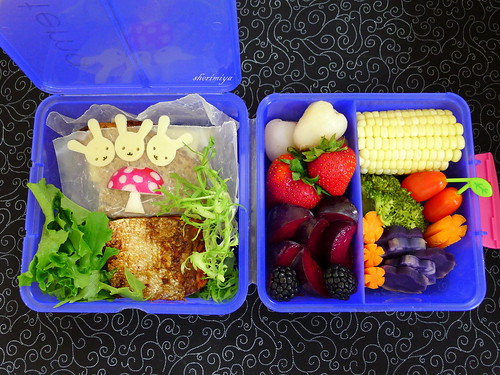 Deconstructed Salmon Sandwich Bento by sherimiya ♥