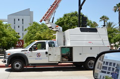 HP COMMUNICATIONS INCORPORATED - FORD UTILITY TRUCK with OVERCENTER AERIAL DEVICE (Navymailman) Tags: truck bucket
