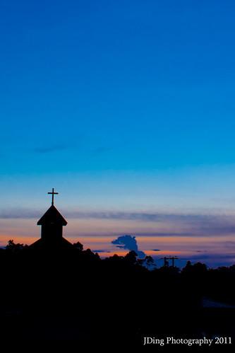 Sunset @ Kpg Stass, Bau, Sarawak by Joshua Aquinas Ding