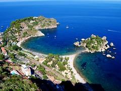 the beach of Isolabella (mujepa) Tags: blue sea italy mer seascape beach bleu sicily isolabella paysage taormina plage italie sicile taormine mygearandme