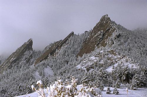 Photo - Flatirons snow
