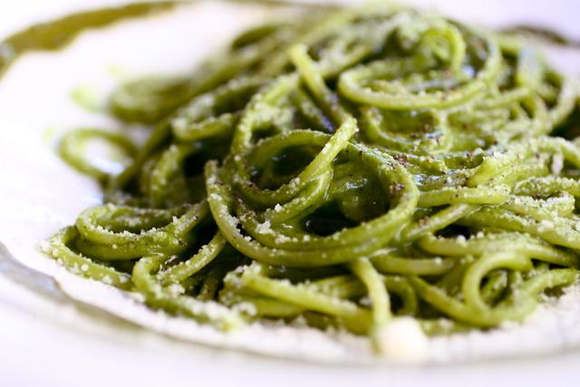 pesto pasta at Piccola Cucina