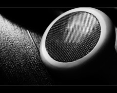 Headphone on vinyl, HMM (Ianmoran1970) Tags: music macro closeup ipod song vinyl plastic simplicity sound record jar tune audio hmm headphone iphone ianmoran macromondays macromonday ianmoran1970