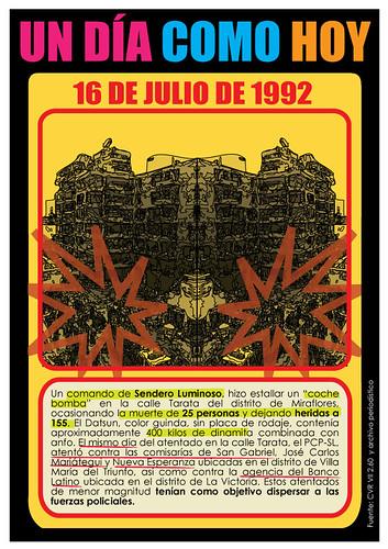 Graphic art commemorating the Tarata street bombing, by Mauricio Delgado www.undiaenlamemoria.blogspot.com
