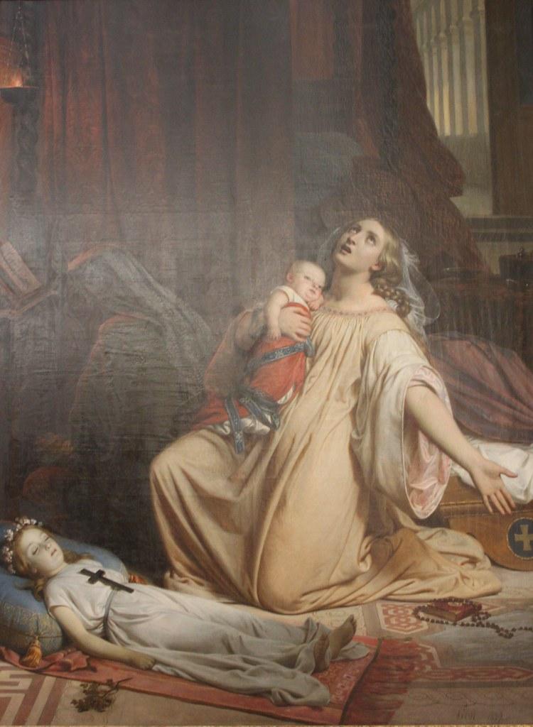 François Edouard Picot, Episode de la peste à Florence (1839)