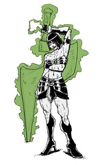 Green Lantern Egyptian Warrior (sketchy pictures) Tags: illustration ink comic princess egypt doodle egyptian hero superhero warrior greenlantern whatif