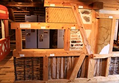 How to build a half-timbered wall (:Linda:) Tags: museum germany bavaria town howto halftimbered fachwerk timberframing hilpoltstein clayfilling