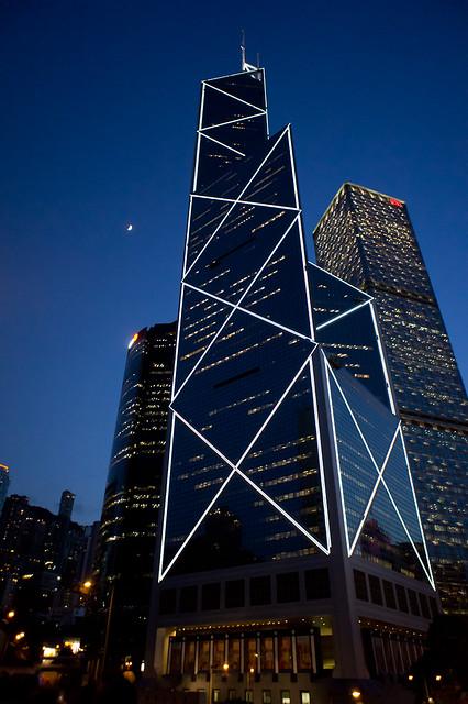 香港,中環夜景
